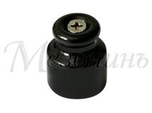 Изолятор фарфоровый черный витого провода, D20х24, МЕЗОНИНЪ GE70020-05