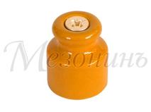 Изолятор фарфоровый песочное золото витого провода, D20х24, МЕЗОНИНЪ GE70020-32