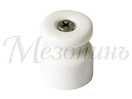 Изолятор фарфоровый белый витого провода, D20х24, МЕЗОНИНЪ GE70021-01