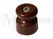 Изолятор фарфоровый коричневый витого провода, D20х24, МЕЗОНИНЪ GE70021-040
