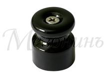 Изолятор фарфоровый черный витого провода, D20х24, МЕЗОНИНЪ GE70021-05