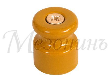 Изолятор фарфоровый песочное золото витого провода, D20х24, МЕЗОНИНЪ GE70021-32