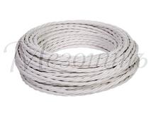 Провод витой ПВХ 2х1,5мм цвет- белый, МЕЗОНИНЪ (50м) GE70141-01