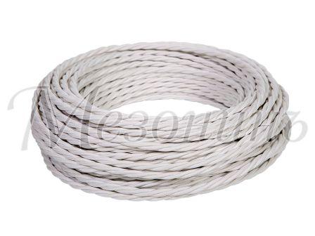 Провод витой ПВХ 2х0,75мм цвет- белый, МЕЗОНИНЪ (10м) GE70110-01