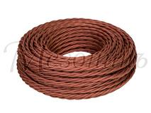 Провод витой ПВХ 2х1,5мм цвет- коричневый, МЕЗОНИНЪ (50м) GE70141-04