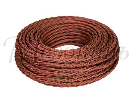 Провод витой ПВХ 3х2,5мм цвет- коричневый, МЕЗОНИНЪ (50м) GE70152-04