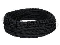 Провод витой ПВХ 2х1,5мм цвет- черный, МЕЗОНИНЪ (50м) GE70141-05