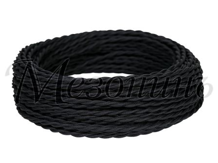 Провод витой ПВХ 3х1,5мм цвет- черный, МЕЗОНИНЪ (10м) GE70113-05