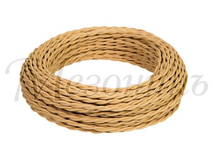 Провод витой ПВХ 2х1,5мм цвет- песочное золото, МЕЗОНИНЪ (50м) GE70141-32