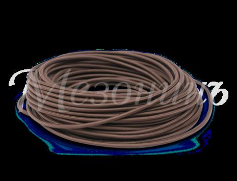 Провод круглый ПВХ 2х0,75, цвет - коричневый, МЕЗОНИНЪ (25м) GE70160-04