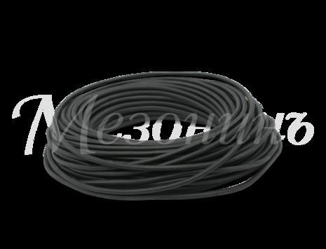 Провод круглый ПВХ 3х2,5, цвет - черный, МЕЗОНИНЪ (25м) GE70172-05