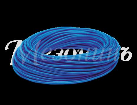 Провод круглый ПВХ 2х0,75, цвет - синий шелк, МЕЗОНИНЪ (25м) GE70160-08