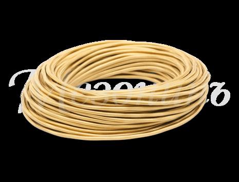 Провод круглый ПВХ 3х1,5, цвет - желтый шелк, МЕЗОНИНЪ (25м) GE70171-30