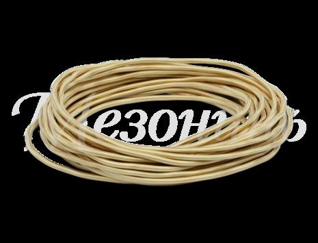 Провод круглый ПВХ 2х0,75, цвет - песочное золото, МЕЗОНИНЪ (25м) GE70160-32