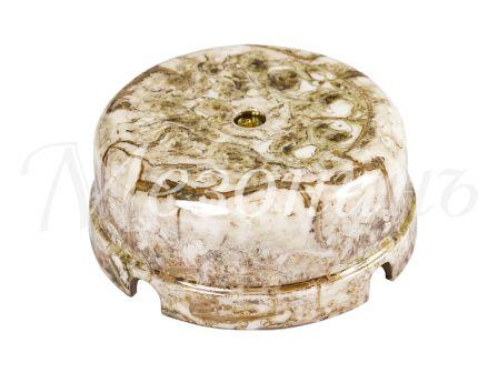 Коробка распределительная фарфоровая D80*33мм, цвет - мрамор, МезонинЪ GE70235-19