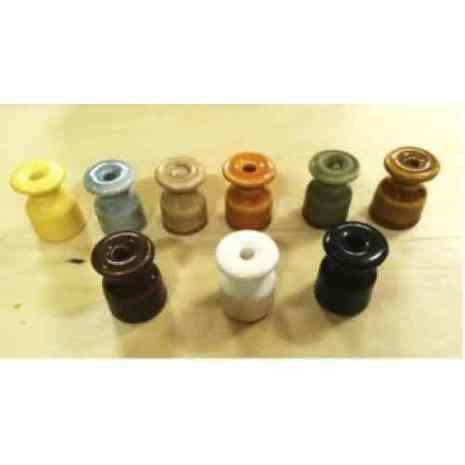 ИФ-01Х Изолятор фарфор глазурованный h-30 mm., d-20 mm., цвет голубовато-серый, кофе с молоком, абрикосовый, темно-коричневый, светло-коричневый,черный, ……