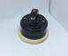 Выключатель 1-кл (проходной) 1 поз. ( Черный глянец) с подроз. береза с кер ручкой (ПОЛУМЕСЯЦ) арт.Z0030400
