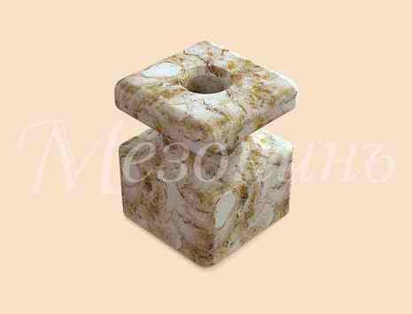 Изолятор фарфоровый квадратный размеры: 20х20х25мм МезонинЪ, цвет - мрамор, GE80025-19