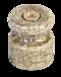 Изолятор фарфоровый в комплекте с саморезами, D 18,5х24мм кол-во жил: 2-3, сечение: 0,75-2,5 мм 20 шт /уп, МезонинЪ, цвет - мрамор, GE70027-190
