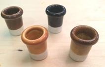 КП-02Х Кабельный проход (гончарная глина) глазурованный h=35mm, D=30mm, цвет: белый, коричневый, светло-коричневый