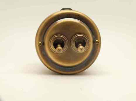 PETRUCCI выключатель двухрычажковый, латунь, цвет умбра