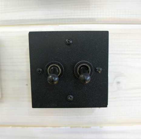 Выключатель 2-х тумблерный Villaris-Loft 2SWITCH BK