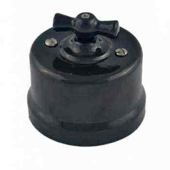 Выключатель 1-кл (проходной) R-SW-18,  цвет черный