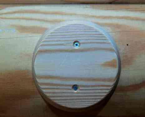 """Накладка GE71728-00 """"Классика"""" на оцилиндрованное бревно D220мм, круглая, установочная площадка: D 108 мм для монтажа распределительной коробки,светильников МезонинЪ"""