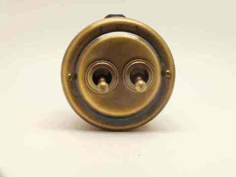PETRUCCI Выключатель тумблерный двухрычажковый, латунь, патина