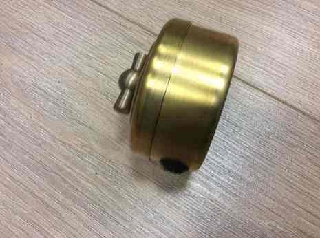 Выключатель 1-кл (проходной) PETRUCCI поворотный латунь, патина