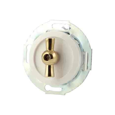 880604-1-zoloto Выкл 2кл, поворотный 10 A, 250 B белый/золото