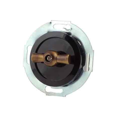 880606-2 Выкл 2кл, поворотный 10 A, 250 B чёрный/бронза