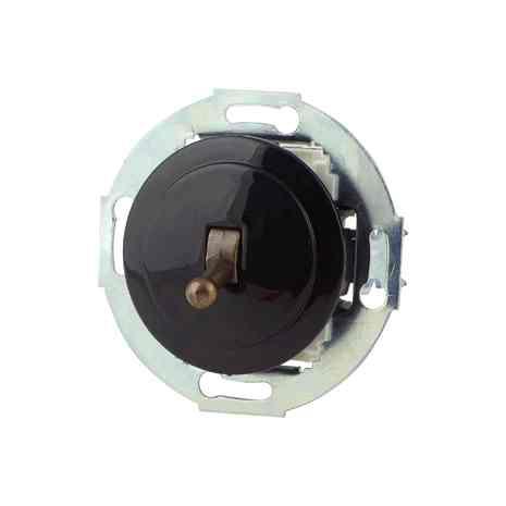 880805-2 Выкл 1кл, проходной, тумблерный  10 A, 250 B чёрный/бронза