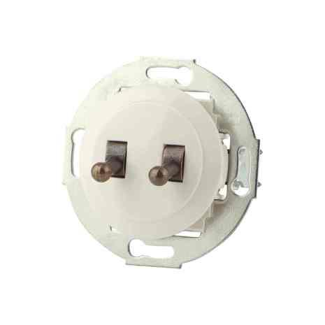 882304-2 Выкл 2кл, тумблерный 10 A, 250 B белый/бронза