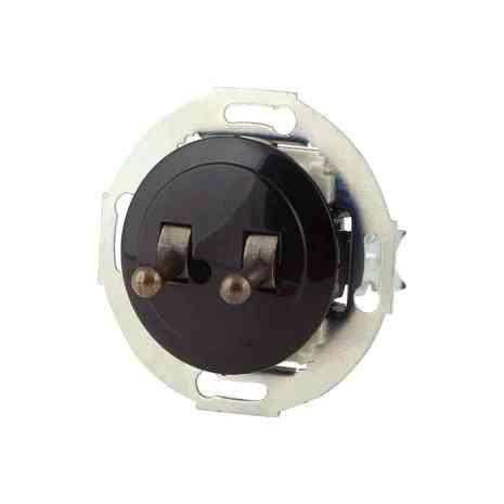 882305-2 Выкл 2кл, тумблерный 10 A, 250 B чёрный/бронза
