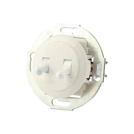 882404-3 Выкл 2кл, тумблерный, проходной 10 A, 250 B белый/белый металл