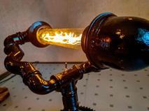 Кабинетный светильник Тандем из чугуна