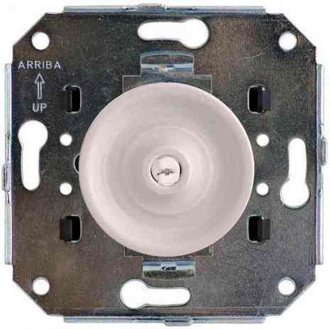 Bironi выключатель 2-клавишный Шедель скрытого монтажа в сборе, белый