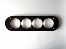dev008844 Накладка для блок-хауса 45*190, 4 местная, Derevfarfor, коллекция Овал, цвет -  черный