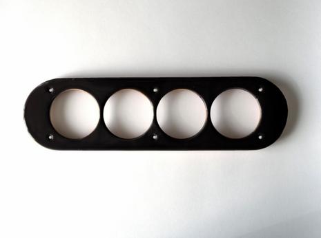 dev008847 Накладка для блок-хауса 20*90, 4 местная, Derevfarfor, коллекция Овал, цвет -  черный