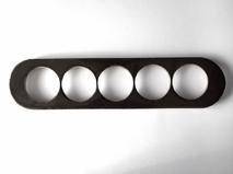 dev008839 Накладка для блок-хауса 45*190, 5 местная, Derevfarfor, коллекция Овал, цвет -  черный