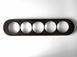 dev008842 Накладка для блок-хауса 20*90, 5 местная, Derevfarfor, коллекция Овал, цвет -  черный0