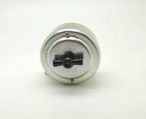 Выключатель 1-кл (проходной) PETRUCCI поворотный четырёхпозиционный, сталь, цвет сталь, арт. 35ST7