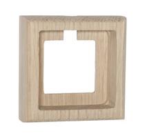 Рамка 1-ная Villaris-Simon, серия Plump, 7321000, цвет - натуральный дуб (без покрытия)