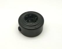 PETRUCCI Розетка 16 А с заземлением, сталь, цвет чёрный муар, арт. 22ST4