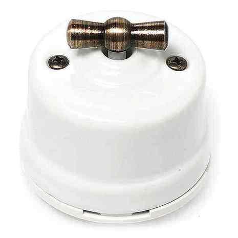 OP21WT Выключатель 4-х позиционный для наружного монтажа оконечный (Двухклавишный), белый