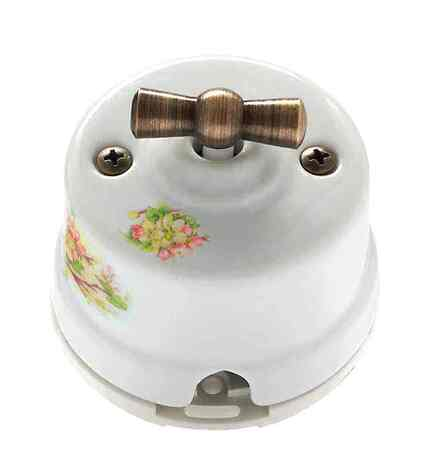 OP31AP Выключатель перекрестный для наружного монтажа, яблоня