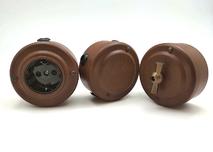 PETRUCCI Розетка 16 А с заземлением, сталь, цвет марс, арт. 21ST3