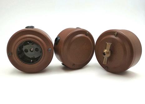 Выключатель 1-кл (проходной) PETRUCCI поворотный, сталь, цвет марс, арт. 36ST3