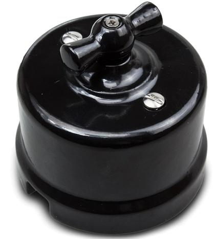 В1-203-03 Bironi Перекрестный выключатель, черный